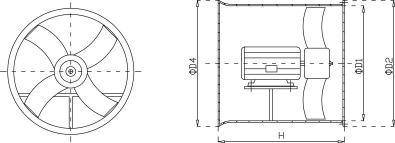 玻璃钢轴流亚博app下载iosYabo下载安装尺寸示意图