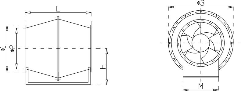 玻璃钢斜流亚博app下载iosYabo下载安装尺寸示意图